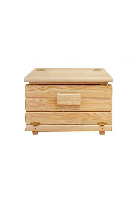 Drewniany kufer Góralski 25 do salonu otwierany do góry