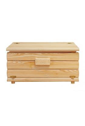 Kufer sosnowy Góralski 26 do sypialni otwierany do góry