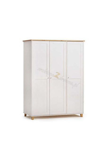 Biała szafa sosnowa Siena 02 do salonu