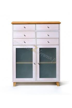 Biała komoda drewniana Siena 07 w stylu skandynawskim
