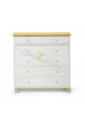 Biała komoda do salonu Siena 10 w stylu skandynawskim