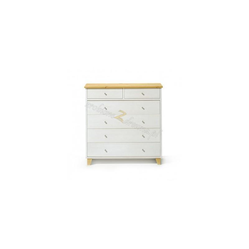 Biała komoda do salonu Siena 10 w stylu skandynawskim>                                         <span class=