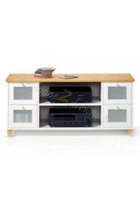 Biała szafka RTV do salonu Siena 13 w stylu skandynawskim