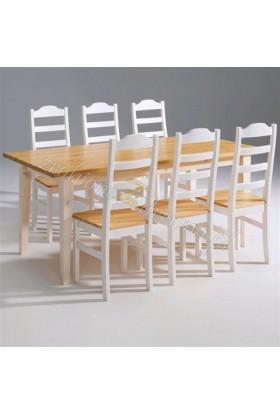 Biały stół drewniany Siena 18 w stylu skandynawskim
