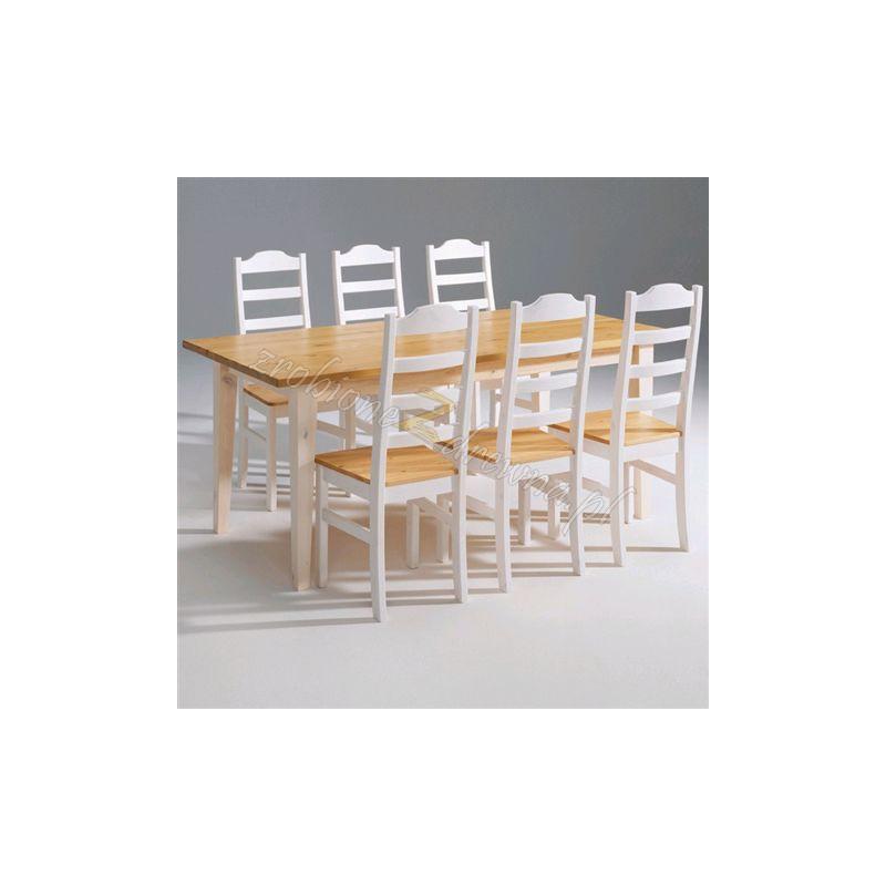Biały stół drewniany Siena 18 w stylu skandynawskim>                                         <span class=