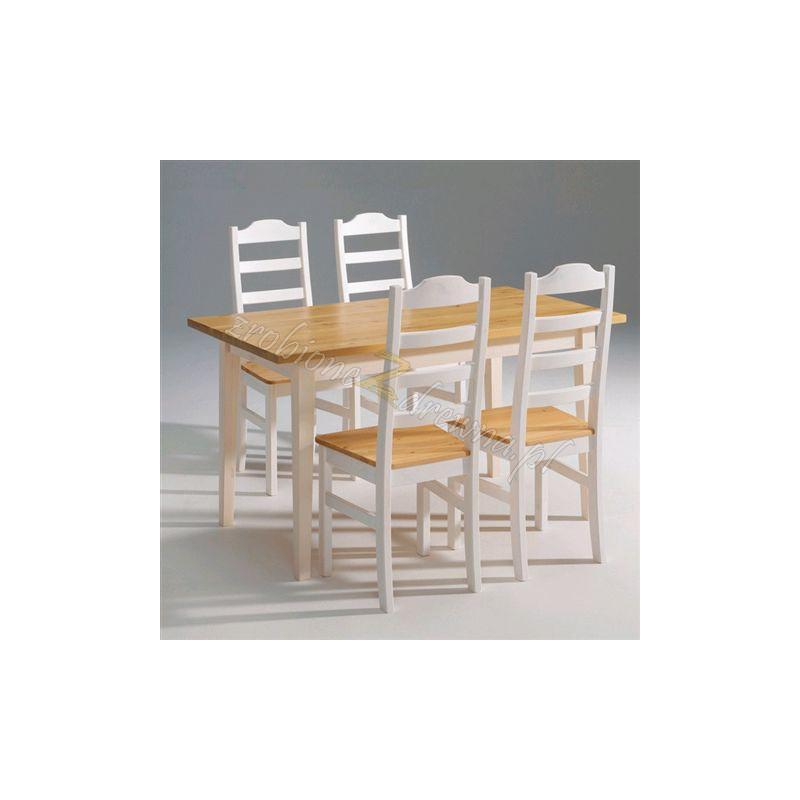 Biały stół sosnowy Siena 19 do kuchni lub jadalni>                                         <span class=