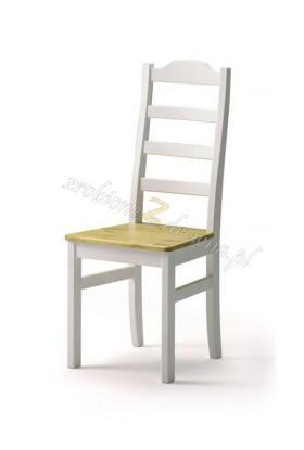 Białe krzesło kuchenne Siena 20 w stylu skandynawskim
