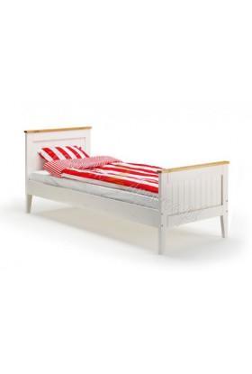Białe łóżko drewniane Siena 22 w stylu skandynawskim