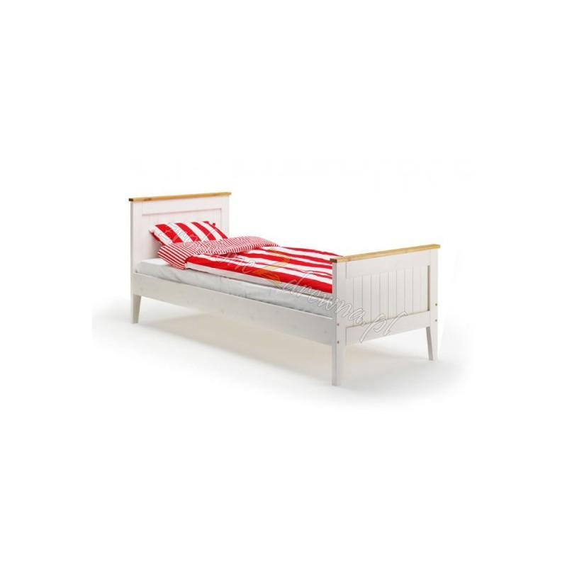Białe łóżko drewniane Siena 22 w stylu skandynawskim>                                         <span class=