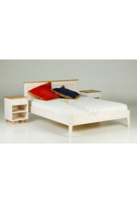 Białe łóżko sosnowe Siena 23 do sypialni