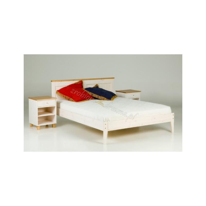 Białe łóżko sosnowe Siena 23 do sypialni>                                         <span class=