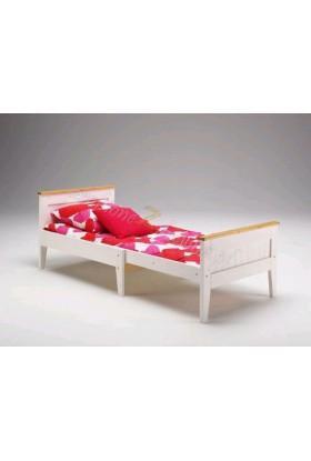 Białe łóżko rozsuwane Siena 24 w stylu skandynawskim