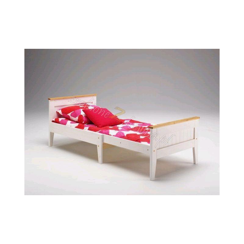 Białe łóżko rozsuwane Siena 24 w stylu skandynawskim>                                         <span class=