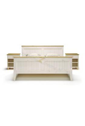 Białe łóżko drewniane Siena 25 w stylu skandynawskim