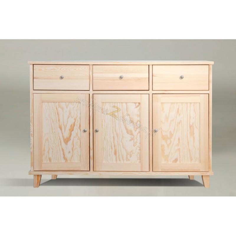 Biała komoda z drewna litego Siena 28 w stylu skandynawskim>                                         <span class=