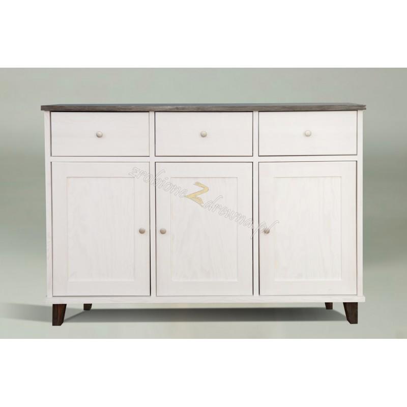 Biała komoda drewniana Siena 28a w stylu skandynawskim>                                         <span class=