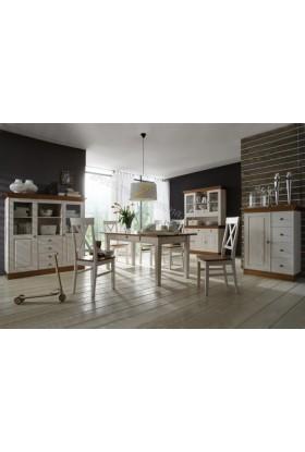 Drewniany stół bielony Roma 34 do kuchni