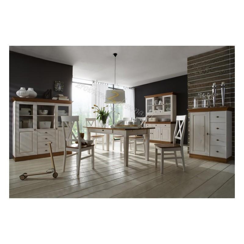 Drewniany stół bielony Roma 34 do kuchni>                                         <span class=