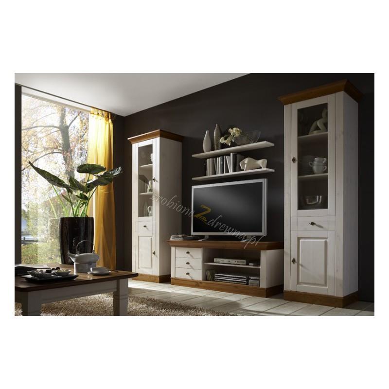 Biały stolik drewniany Roma 36 do salonu>                                         <span class=