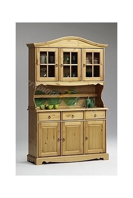 Stylowy kredens kuchenny Romantik 04 z drewna sosnowego