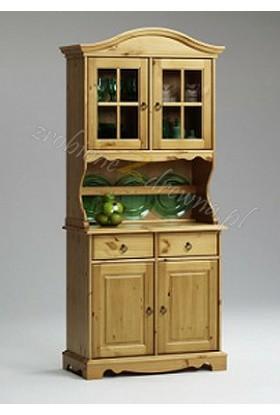 Stylowy kredens kuchenny Romantik 06 z drewna sosnowego