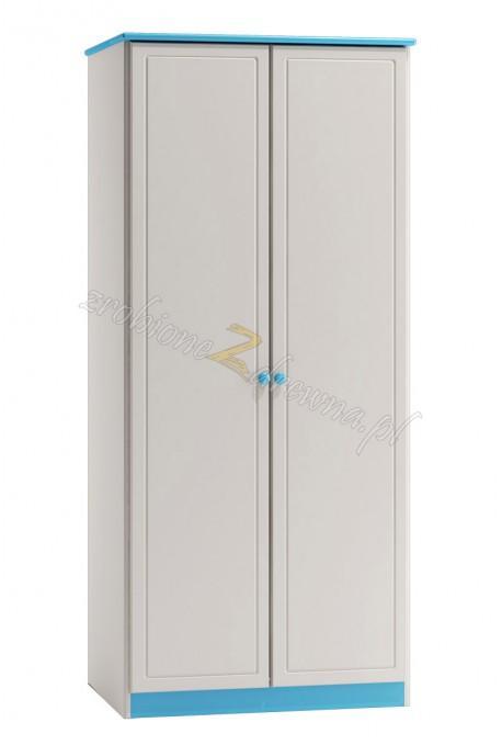 Biała szafa drewniana Smyk 01 do pokoju dziecięcego