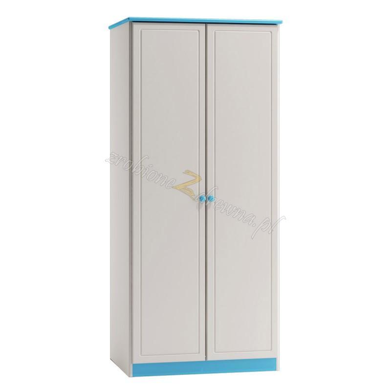 Biała szafa drewniana Smyk 01 do pokoju dziecięcego>                                         <span class=