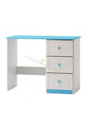 Białe biurko drewniane Smyk 09a do pokoju dziecięcego
