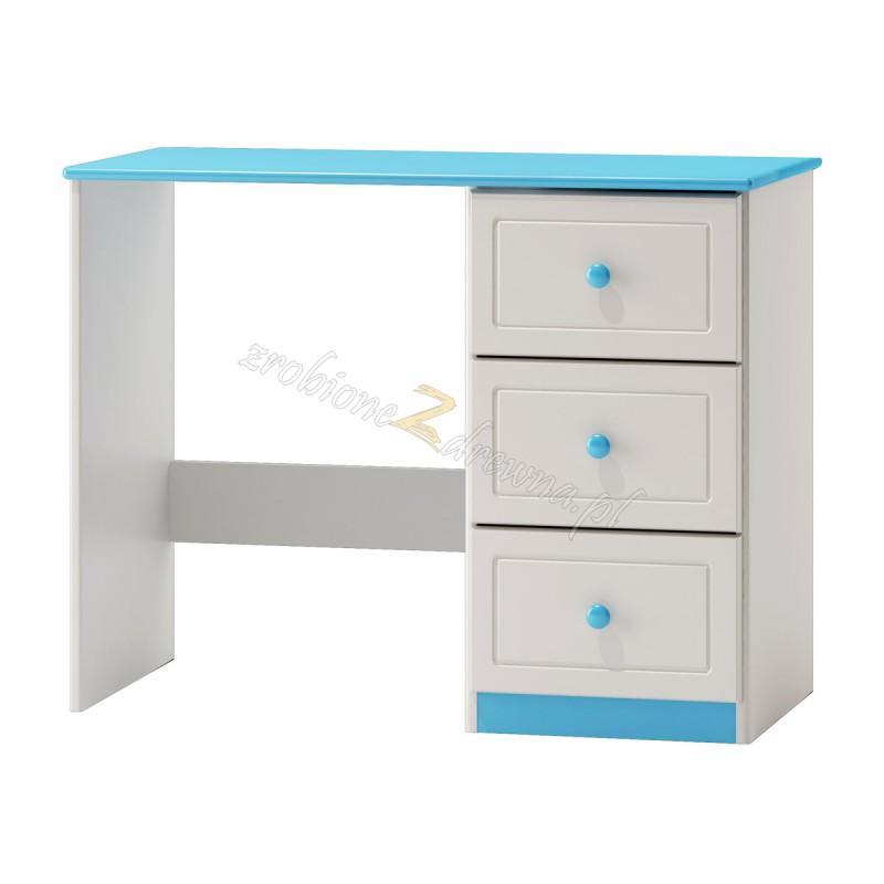 Białe biurko drewniane Smyk 09a do pokoju dziecięcego>                                         <span class=