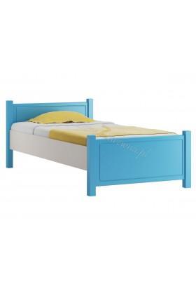 Białe łóżko dziecięce Smyk 10 z litego drewna sosnowego