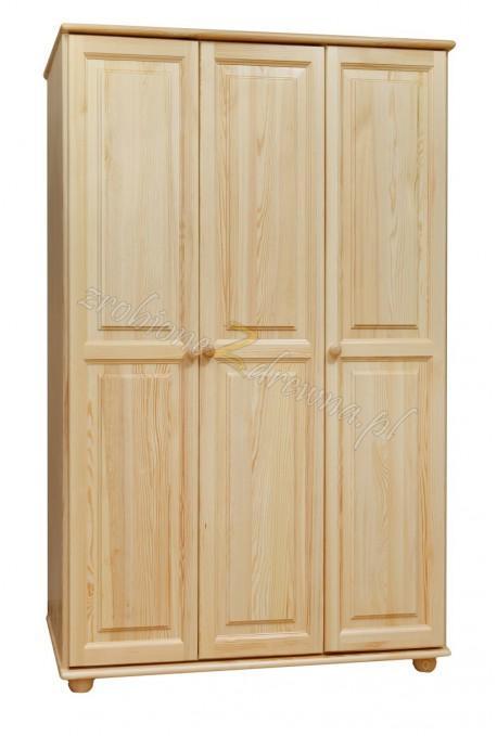 Szafa Klasyczna 06 z litego drewna sosnowego