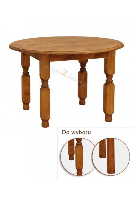 Stół okrągły z litego drewna Hacienda w stylu retro