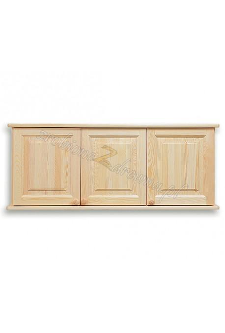 Nadstawka do szafy Klasyczna 03 z litego drewna sosnowego trzydrzwiowa