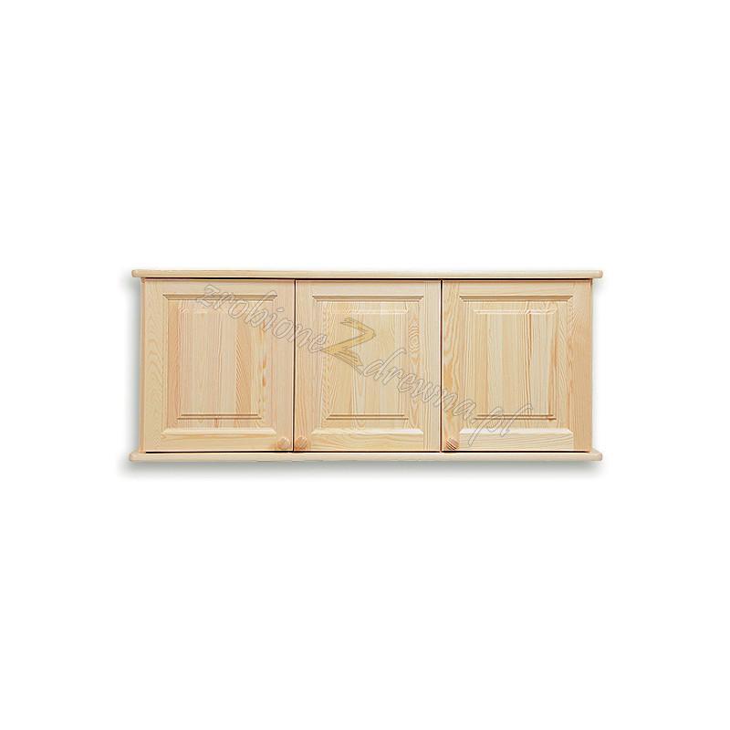 Nadstawka do szafy Klasyczna 03 z litego drewna sosnowego trzydrzwiowa>                                         <span class=