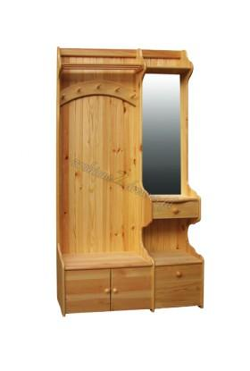 Garderoba drewniana Klasyczna 01 do przedpokoju