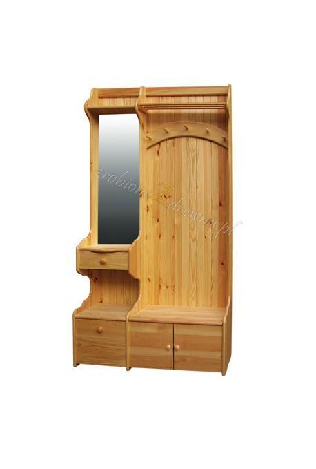 Garderoba sosnowa Klasyczna 02 do sypialni