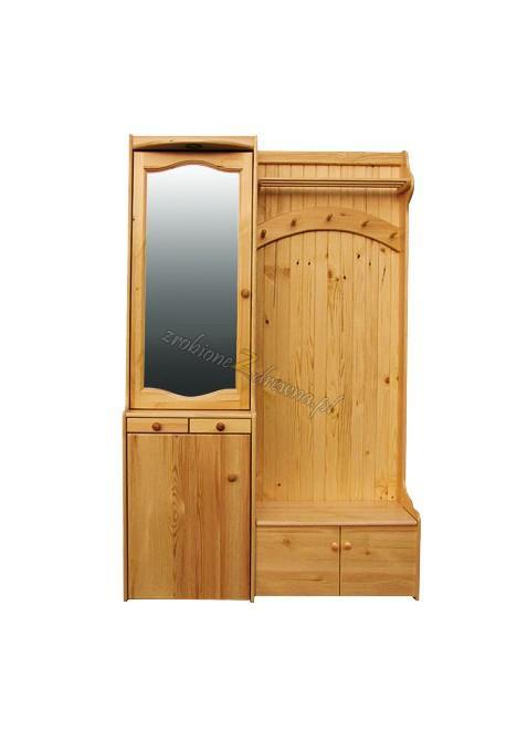 Garderoba Klasyczna 03 z litego drewna sosnowego