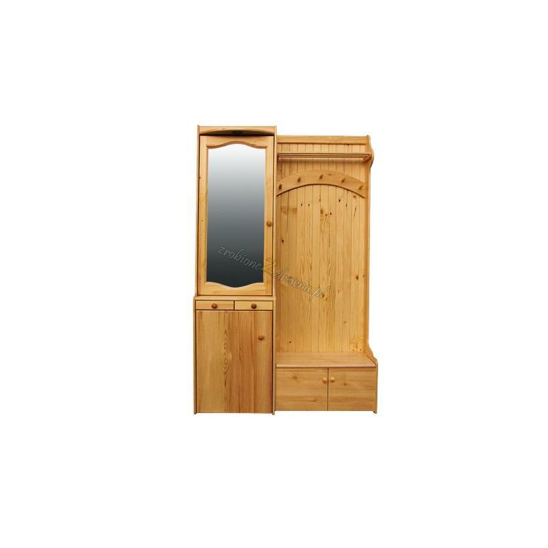 Garderoba Klasyczna 03 z litego drewna sosnowego>                                         <span class=