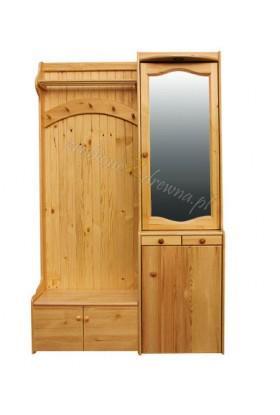 Garderoba drewniana Klasyczna 04 do przedpokoju