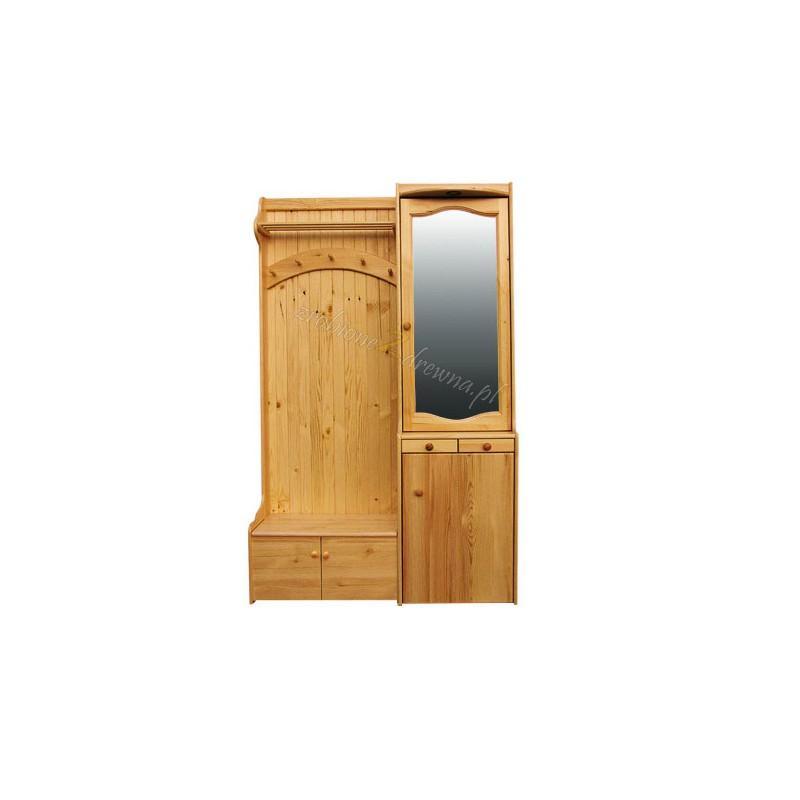 Garderoba drewniana Klasyczna 04 do przedpokoju>                                         <span class=