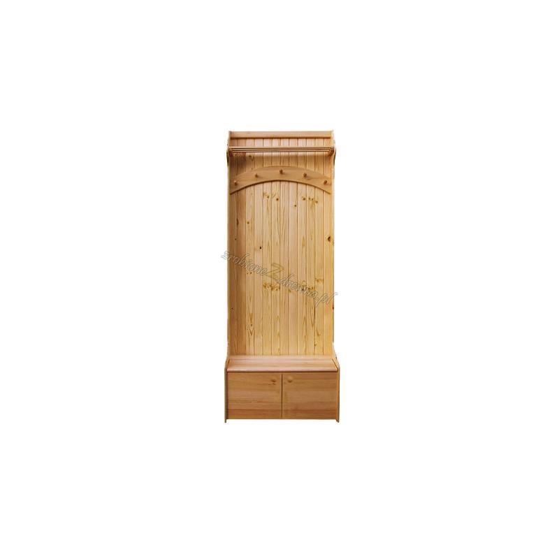 Garderoba Klasyczna 06 z litego drewna sosnowego>                                         <span class=