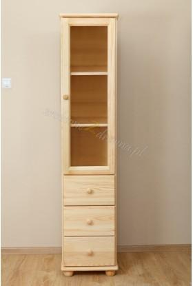 Witryna drewniana Klasyczna 11 do salonu