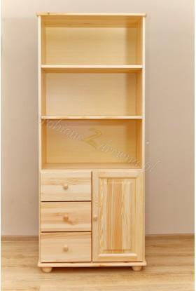 Regał drewniany Klasyczny 28 do salonu
