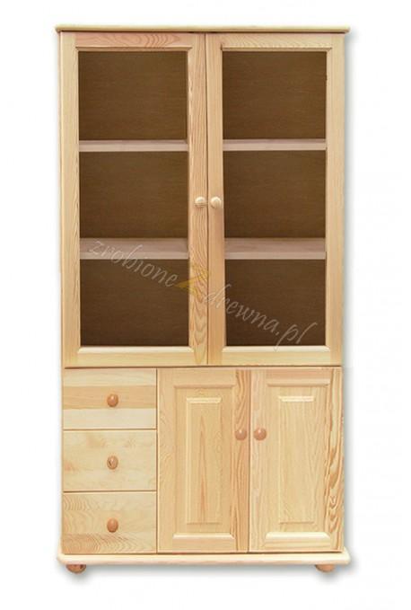 Witryna drewniana Klasyczna 35 do salonu
