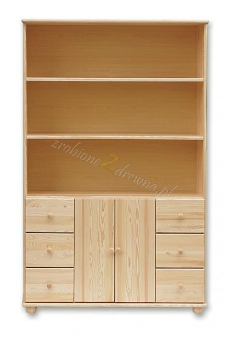 Regał drewniany Klasyczny 40 do salonu