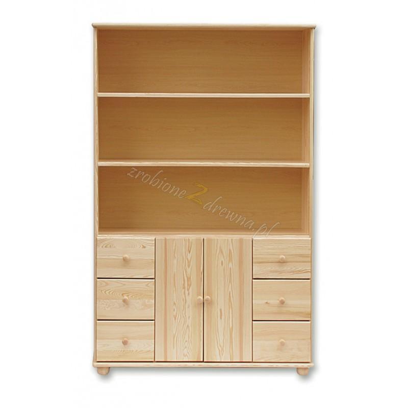 Regał drewniany Klasyczny 40 do salonu>                                         <span class=