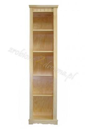 Regał ozdobny Klasyczny 46 z litego drewna sosnowego