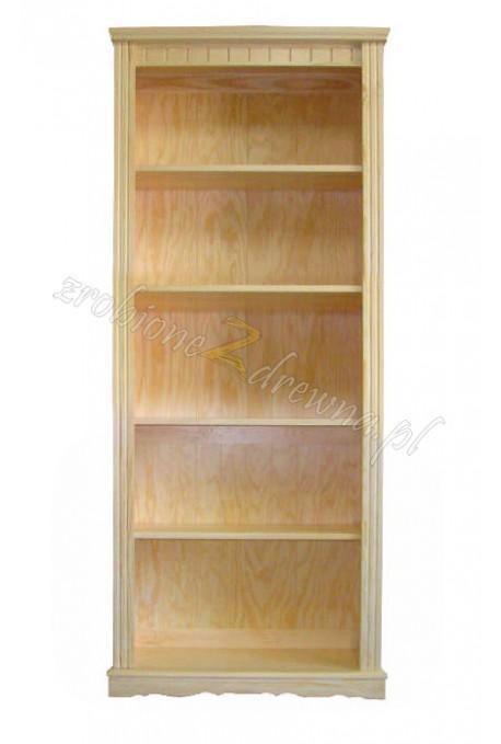 Regał drewniany retro Klasyczny 47 do salonu