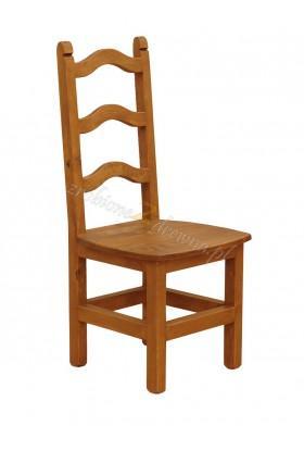 Rustykalne krzesło drewniane Hacienda 01 do salonu lub kuchni
