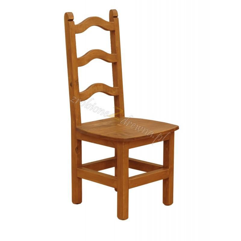 Rustykalne krzesło drewniane Hacienda 01 do salonu lub kuchni>                                         <span class=